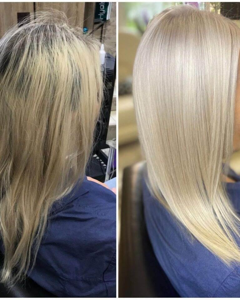 Осветление волос в салоне красоты